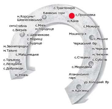 Схематичне зображення маршруту