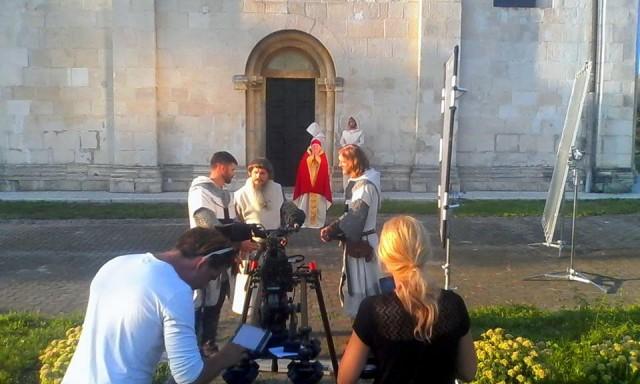 У давньому Галичі знімали історичний бойовик (фоторепортаж)