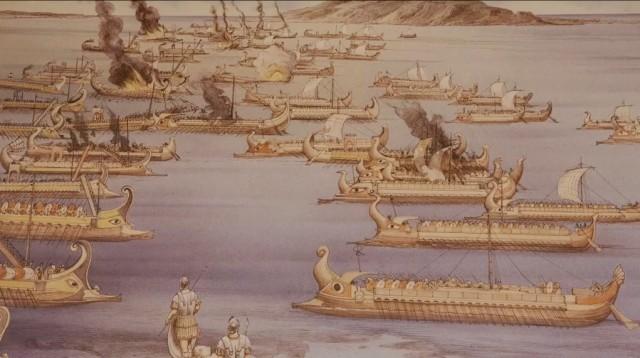 Древняя морская битва восстает из воды